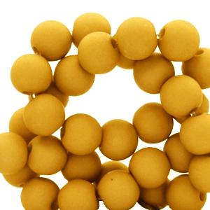 Acryl kralen 4mm bright golden yellow