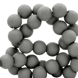Acryl kralen 4mm quiet shade grey