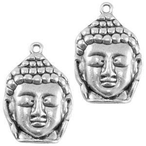 Bedel Buddha groot zilver