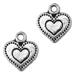 Bedel hart love zilver