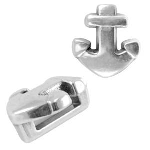 DQ schuiver anker zilver voor 5mm plat leer