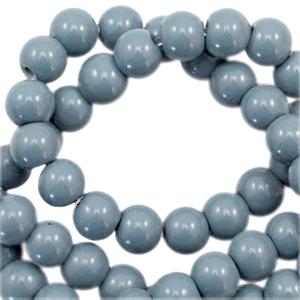 Glaskralen 4mm opaque airforce blue
