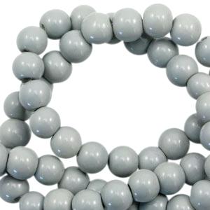 Glaskralen 4mm opaque ice grey