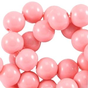 Glaskralen 4mm opaque pink