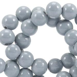Glaskralen 6mm opaque cool grey