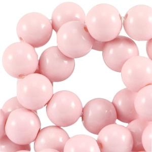 Glaskralen 6mm opaque light pink