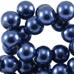 Glasparels 4mm donkerblauw