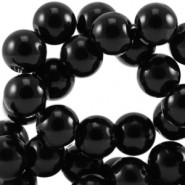 Glasparels 6mm zwart