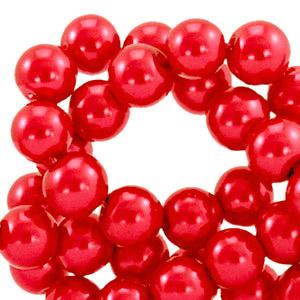 Glasparels 8mm cherry red