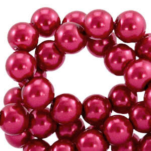 Glasparels 8mm ruby wine red