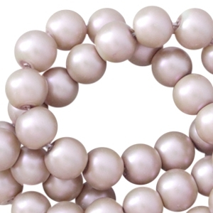 Glasparels pearl 6mm lichtbruin