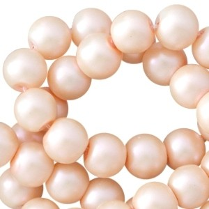 Glasparels pearl 6mm peach orange