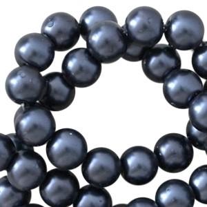 Glasparels pearl 6mm zwart