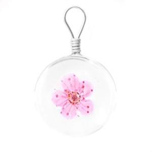 Hanger gedroogde bloem 20mm bright pink