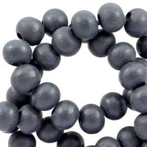 Houten kralen 6mm dark slate blue