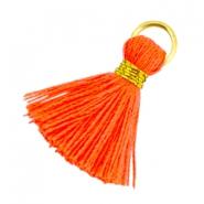 Ibiza kwastje 20mm neon oranje goud