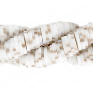 Katsuki kralen 4mm white sand brown