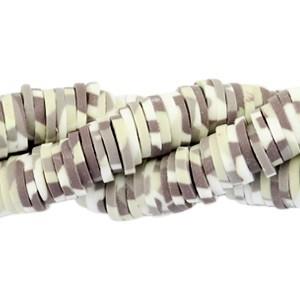 Katsuki kralen 6mm army print taupe-beige-white