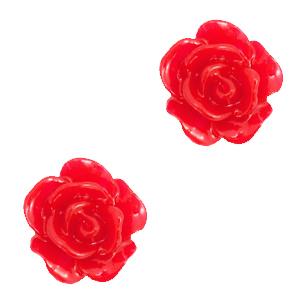 Kraal roosje lollipop red