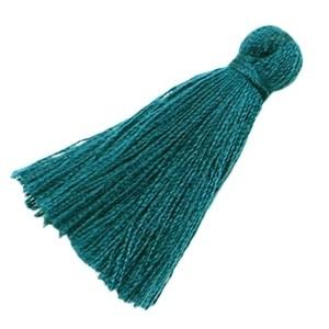Kwastje 20mm donkerblauw-groen