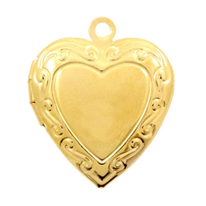 Medaillon hart goud