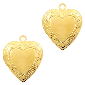 Medaillon hart klein goud