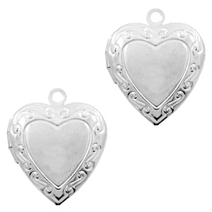 Medaillon hart klein zilver