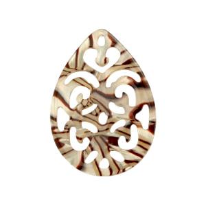 Resin hanger druppel barok incense beige pearl
