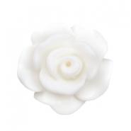 Roosje kraal matt wit