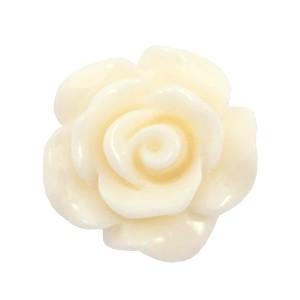 Roosje kraal shiny beige white