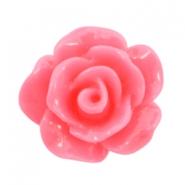 Roosje kraal shiny light hot pink