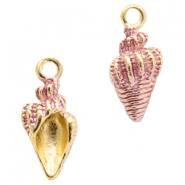 Bedel schelp pink gold