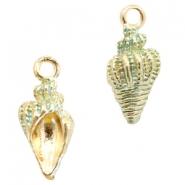 Bedel schelp turquoise green gold