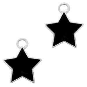 Bedel ster zwart zilver
