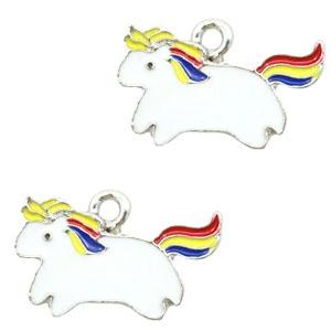 Bedel unicorn wit zilver