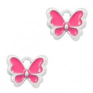Bedel vlinder fuchsia zilver
