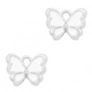 Bedel vlinder wit zilver