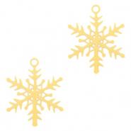 Bohemian hanger snowflake goud
