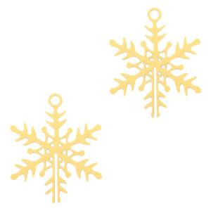 Bohemian hanger snowflake groot goud