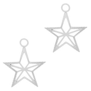 Bohemian hanger ster zilver