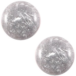 Cabochon 12mm feltro grey