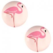 Cabochon 12mm flamingo coral peach