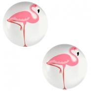 Cabochon 12mm flamingo light grey