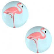 Cabochon 12mm flamingo sky blue