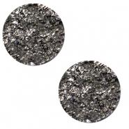 Cabochon 12mm goldstein carbone black