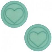 Cabochon 12mm hart aqua blue