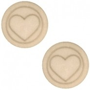 Cabochon 12mm hart light taupe