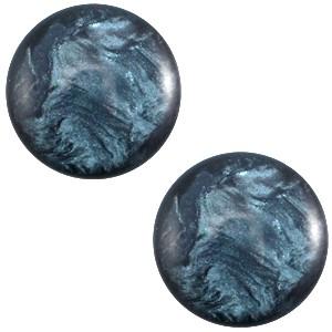Cabochon 12mm jais denim blue