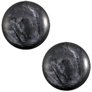 Cabochon 20mm jais anthracite grey