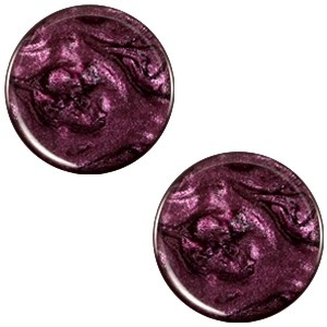 Cabochon 20mm jais purple